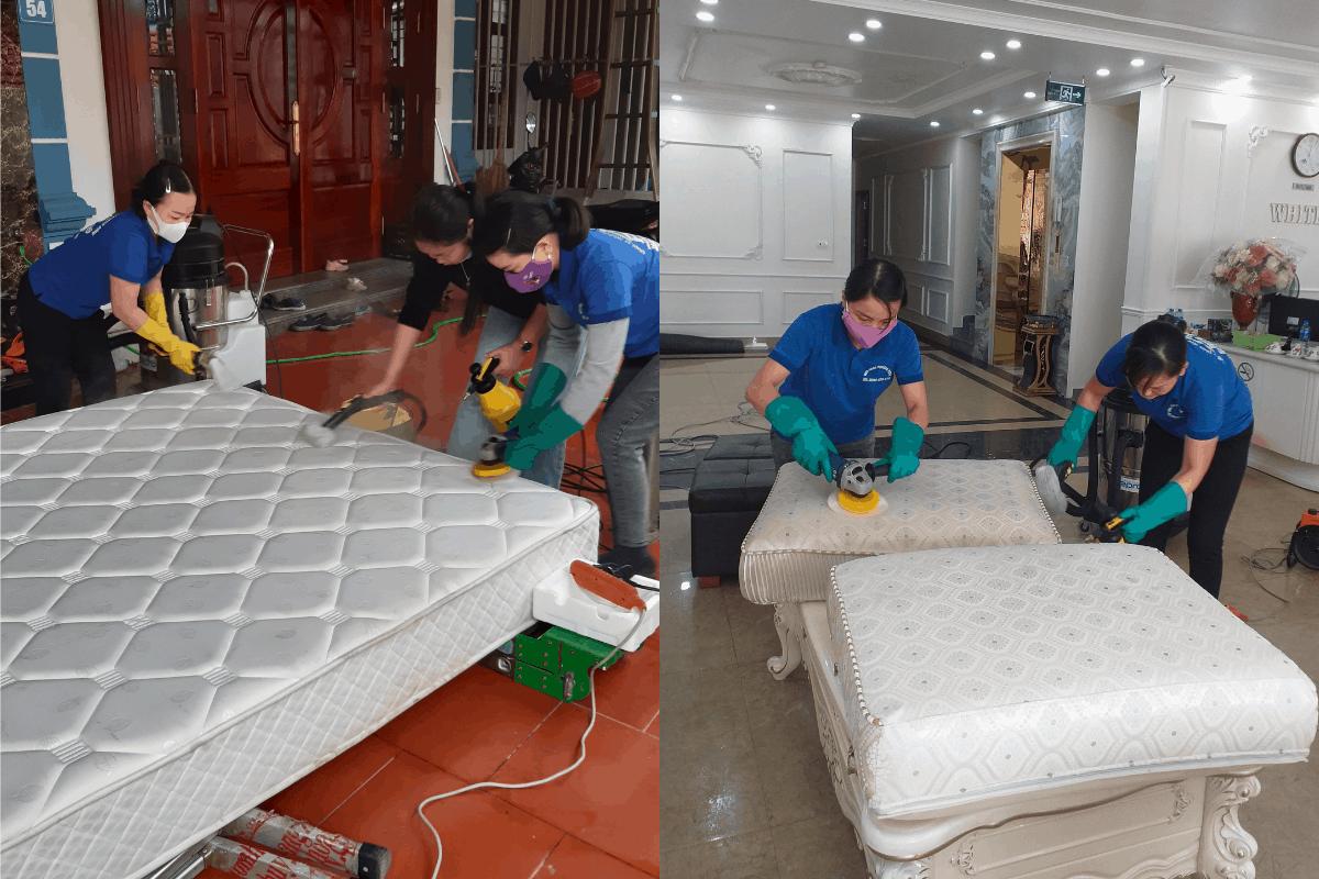 Dịch vụ giặt ghế sofa, giặt đệm tại Hạ Long Quảng Ninh