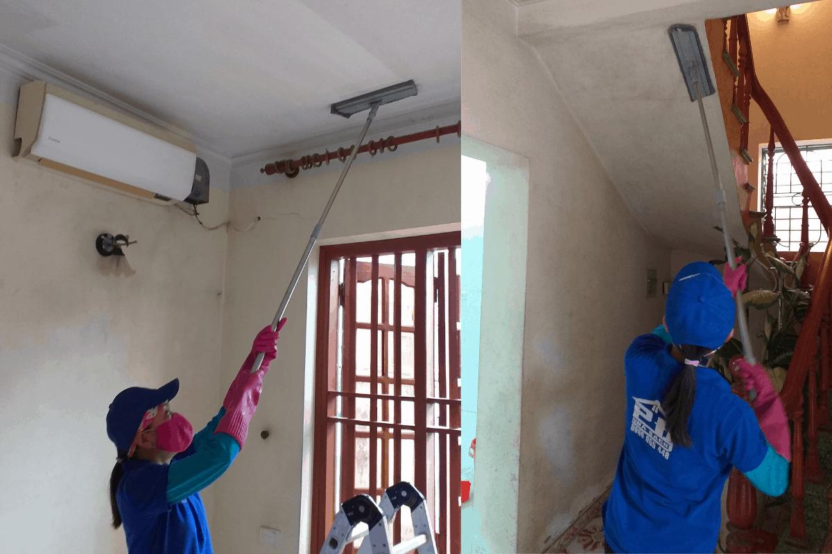 Tẩy mốc tường và trần nhà tại Hạ Long, Quảng Ninh